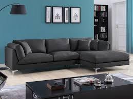 canap d angle vente unique canapé d angle en tissu gris ou anthracite flake