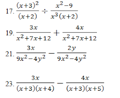 rational expressions pdf and key mixed review problems