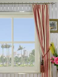 moonbay narrow stripe double pinch pleat cotton curtains