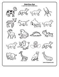 odd one out worksheets activity sheets for kids worksheets for