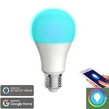 alexa light bulbs no hub smart bulb wigbow wi fi led light bulb color changing 5000k a19 6w
