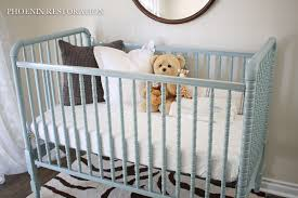 before after easy voc free glossy jenny lind crib makeover
