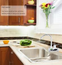 gzu tankless electric water heater faucet kitchen with led