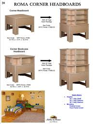 Twin Bed With Storage And Bookcase Headboard by Arthur W Brown Furniture Company