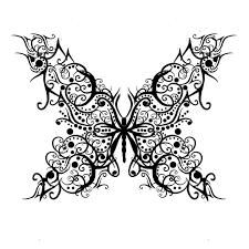 tribal butterfly wings design
