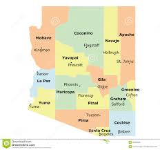 Map Of Arizona State by Arizona State Royalty Free Stock Image Image 35809666
