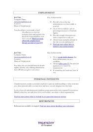 Skill Resume Template Skills Based Cv Template