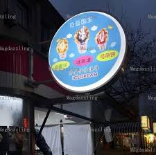 Outdoor Light Box Signs Outdoor Aluminum Frame Sided Led Backlit Shop Signs