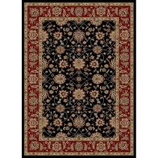 5 8 Rugs Shop Style Selections Natcher Black Rectangular Indoor Woven