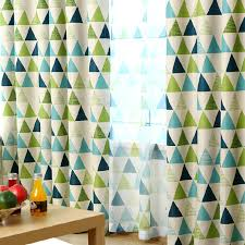 Green And Blue Bedrooms - brief blackout green and blue geometric curtains