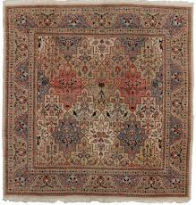 Square Wool Rug 5 X 5 Square Vintage Persian Tabriz Wool Rug 14226 Exclusive