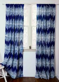 Blue Window Curtains Blue Window Curtain Curtains Indigo Blue Block Print