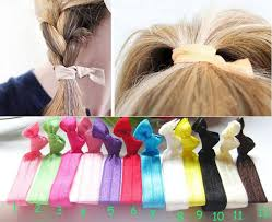 ribbon hair ties elastic hair ties no crease ponytail holder twist ribbon band