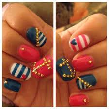 17 gorgeous blue nails art nautical nails sailor nails and