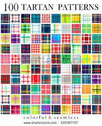 tartan pattern big set 100 tartan seamless pattern stock vector 520367737