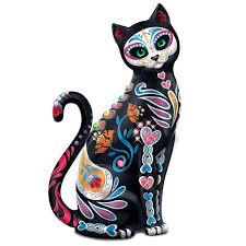 amazon com blake jensen mexican sugar skull art cat figurine