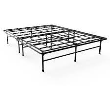 bedroom metal bed frame without box spring high platform bed