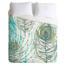 rachael taylor peacock feathers duvet cover deny designs home