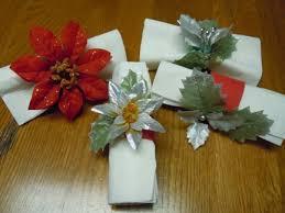 poinsettia napkin rings for craft ideas