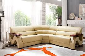 Set Furniture Living Room Modern Bonded Leather Sofa Set Furniture In Beige 1623 6