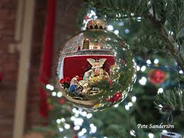 amazing reflection in a christmas tree ornament md leader