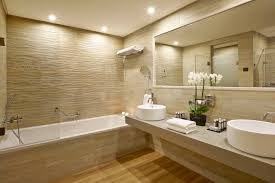 minimalist bathroom fixtures white bathtub built in storage