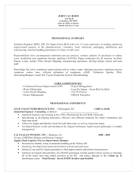 Sample Resume For Industrial Engineer by Master Resume For Candidate John Van Horn