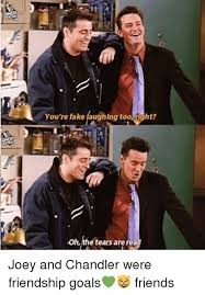 Chandler Meme - you re fake laughlng too right ohthe tears arerea joey and