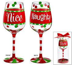 Christmas Wine Naughtynice Christmas Wine Glass