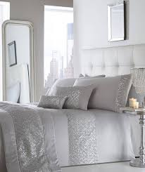Superking Size Duvet Set Changingbedrooms Com Superking Size Shimmer Silver Grey Diamante