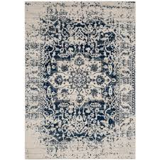 4x6 Jute Rug Safavieh Madison Cream Navy 4 Ft X 6 Ft Area Rug Mad603d 4 The