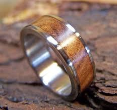 Wooden Wedding Rings by Titanium Ring Wedding Ring Wood Ring Ancient Kauri Ring