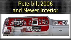 Truck Accessories Interior Peterbilt Dash Accessories Big Rig Chrome Shop Semi Truck Chrome