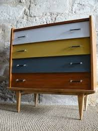 vintage 60 u0027s 70 u0027s retro mod chest of drawers metal oval handles