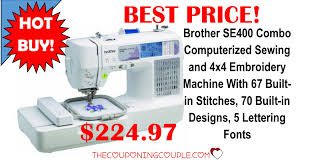 black friday 2017 sewing embroidery machine amazon brother se400 combination computerized sewing machine