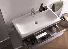 geberit introduces the bathroom series of washbasins and cabinets