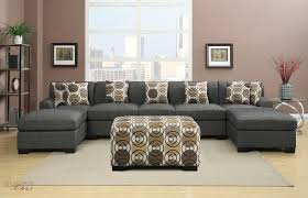 furniture home hayward ash black large u shaped modern elegant