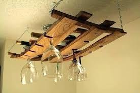 hanging wine glass holder ikea rack wooden reclaimed wood