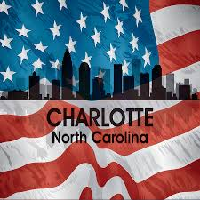 Charlotte Flag Football Charlotte Nc American Flag Squared Mixed Media By Angelina Vick