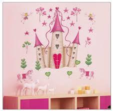 popular castle wall decal buy cheap castle wall decal lots from cartoon princess castle flower fairy wall stickers kids room nursery bedroom home decor 3d vinyl