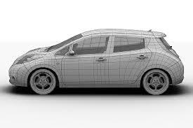 2011 nissan leaf 3d model cgtrader