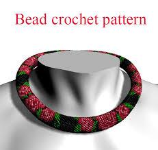 diy necklace bead images Diy necklace bead crochet pattern pdf tutorial crochet rope scheme jpg