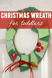 toddler christmas wreath making station crafts teaching and