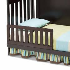 Simmons Convertible Crib by Simmons Kids Toddler Guard Rail Black Espresso Toys