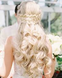 28 half up half down wedding hairstyles we love martha stewart