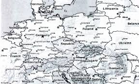 Map Of Europe Black And White by History