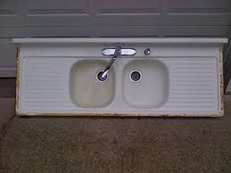 Old Kitchen Sink With Drainboard by Vintage Double Basin Double Drainboard Porcelain Over Cast Iron Sink