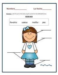 spanish worksheets for kindergarten great game to keep
