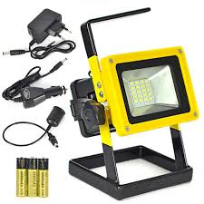 10w rechargeable flood light boruit 24 led 10w rechargeable floodlight outdoor waterproof red