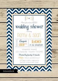 co ed bridal shower chevron wedding shower invitation couples coed bridal rehearsal